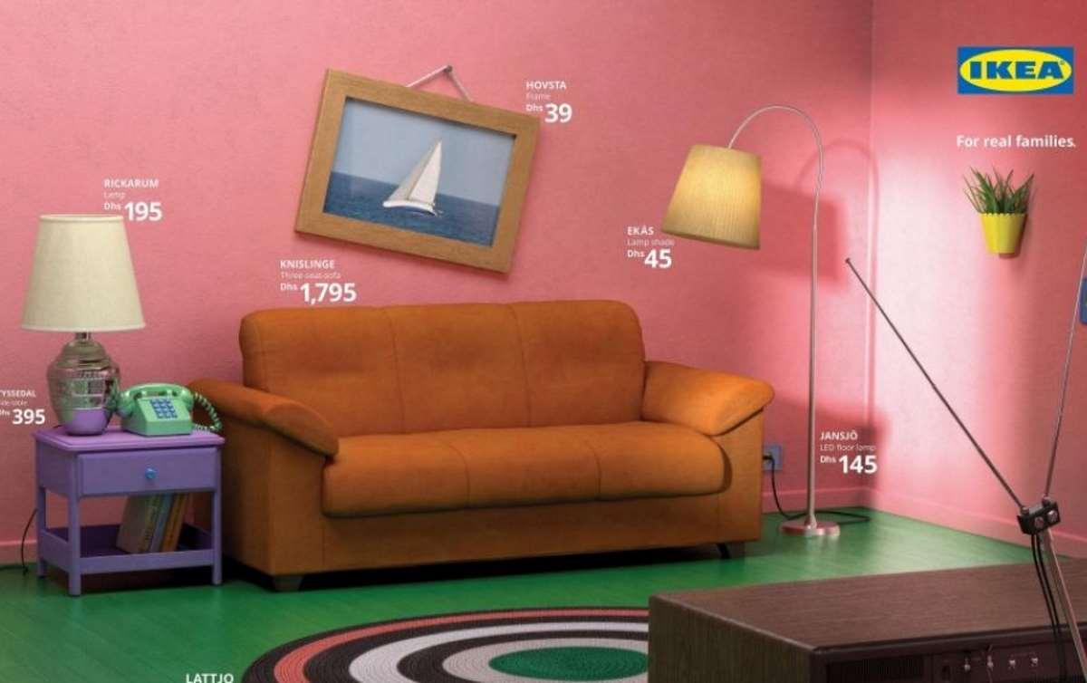 """Mobili Per La Sala Ikea ikea ricrea i salotti più famosi: da """"friends"""" ai """"simpson"""