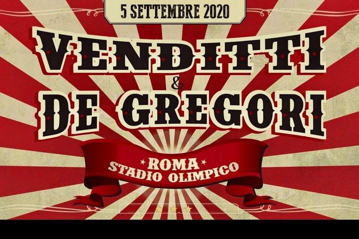 La locandina del concerto di Venditti e De Gregori