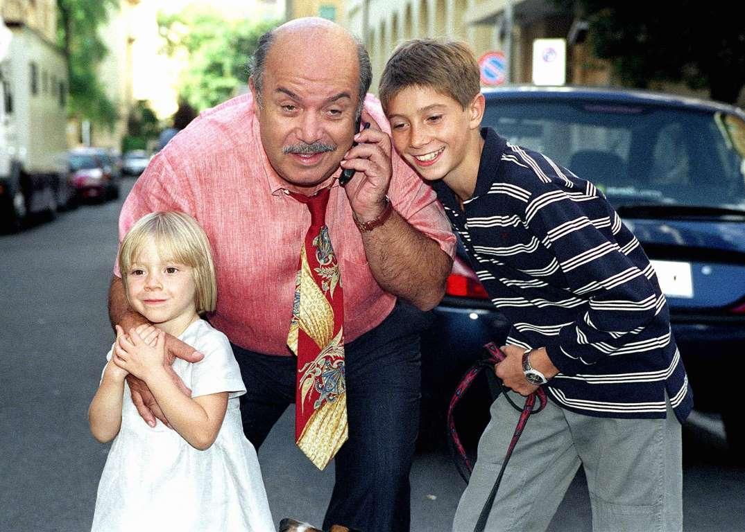 Lino Banfi con Eleonora Cadeddu e Michael Cadeddu