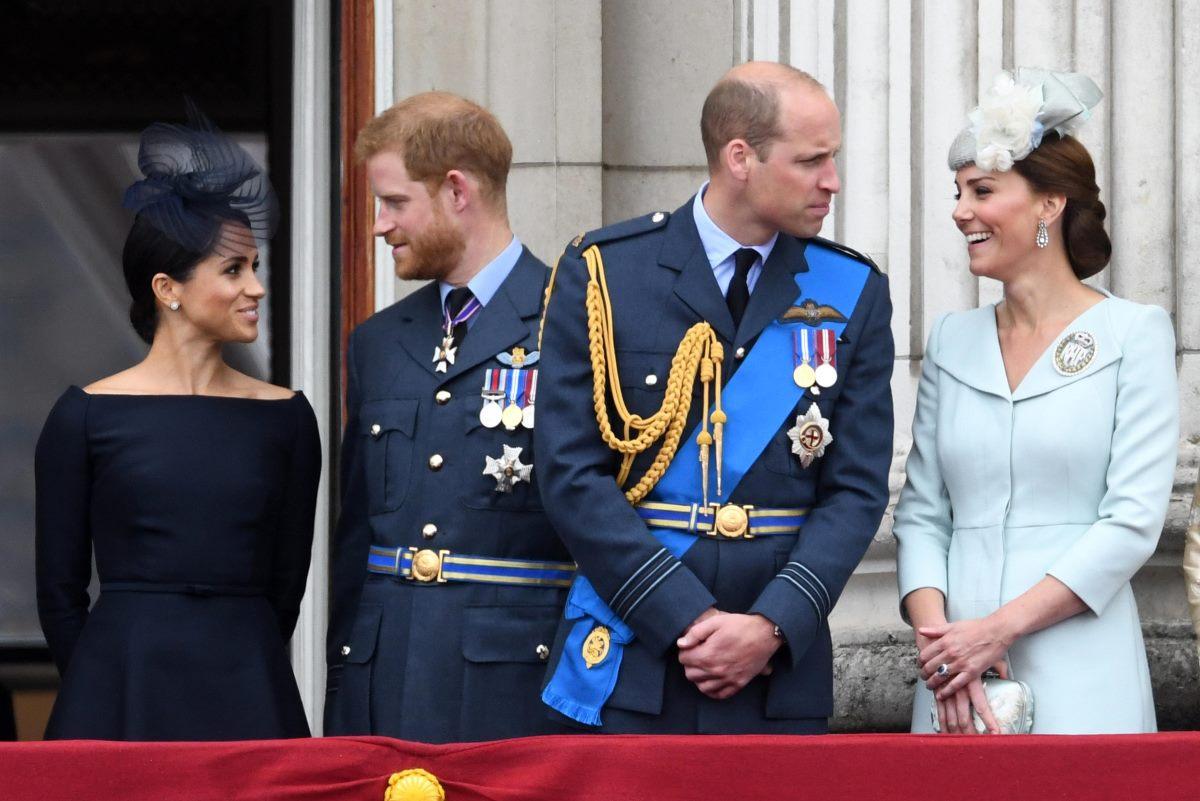 Principi Harry e William e le loro consorti