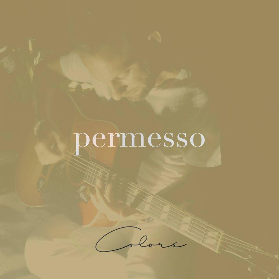 La copertina di Permesso, nuovo singolo di Mattia Pattaro Colore