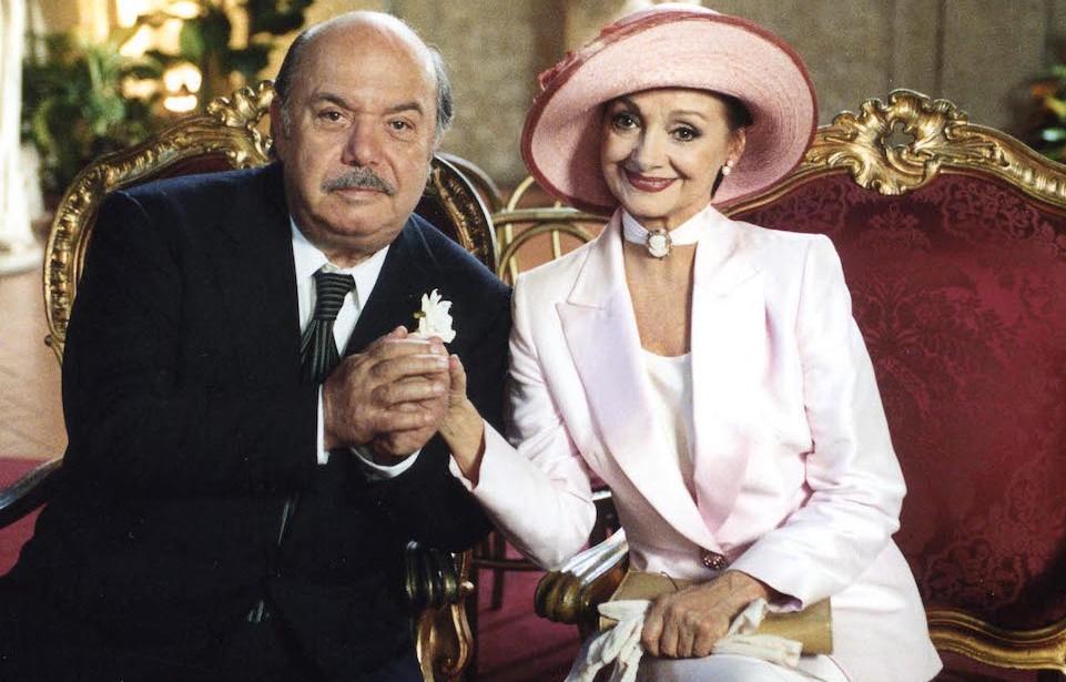 Milena Vukotic con Lino Banfi in Un medico in famiglia