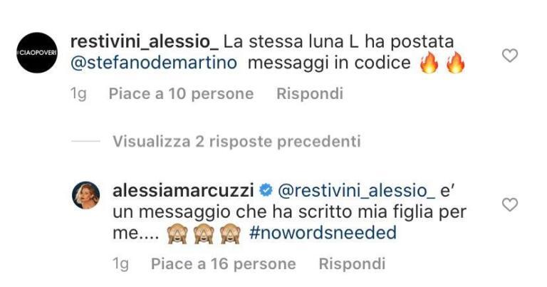 Alessia Marcuzzi De Martino screen