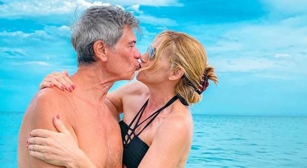 Lorella Cuccarini e il marito Silvio Testi