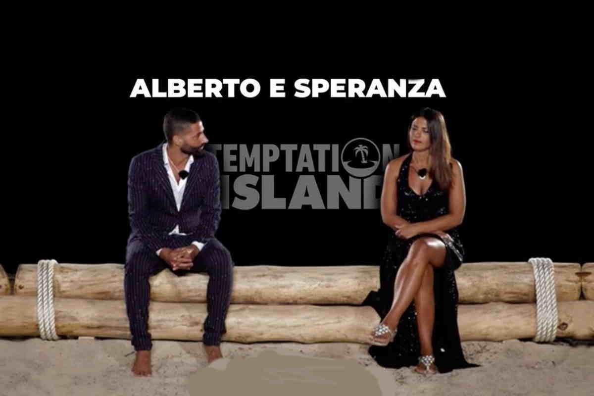 Temptaion Island Alberto e Speranza Falò