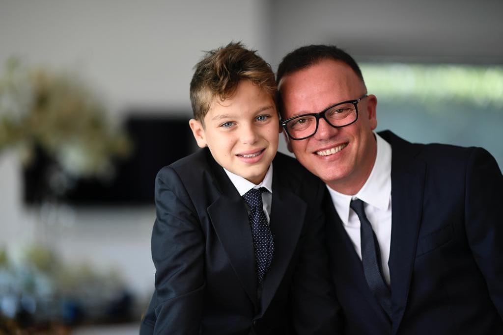 Gigi D'Alessio insieme al figlio Andrea