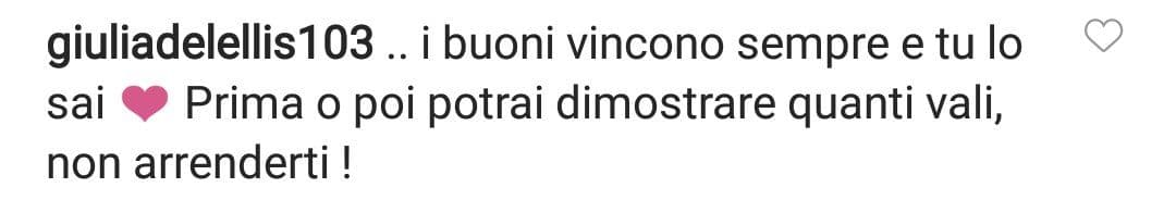 commento Giulia De Lellis a Andrea Iannone