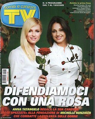 Anna Tatangelo e Michelle Hunziker sulla copertina di Sorrisi e Canzoni nel 2009