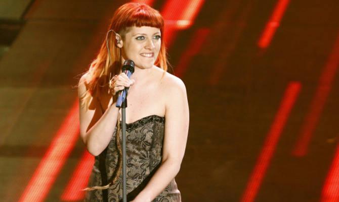 Un altro scatto di Noemi a Sanremo 2014 / Fonte foto: Latinacorriere.it