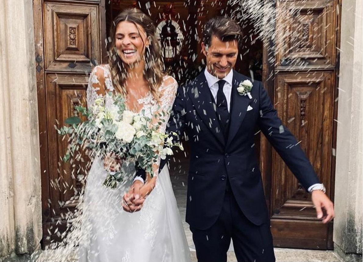 Cristina Chiabotto e Marco Roscio nel giorno del loro matrimonio