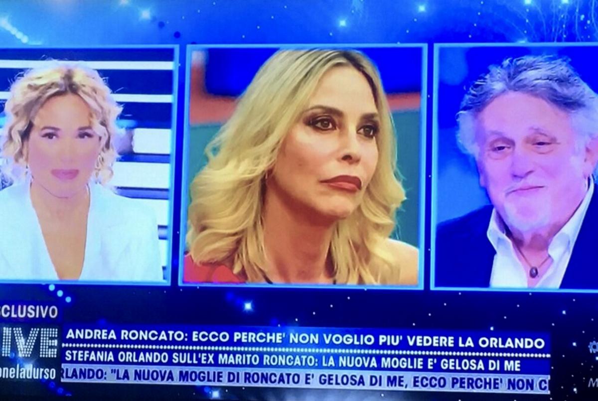 Andrea Roncato ospite di Barbara D'Urso a Live - Non è la D'Urso