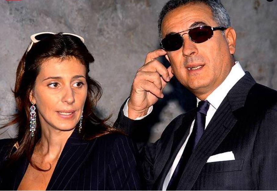 Lamberto Sposini e la ex moglie Sabina Donadio