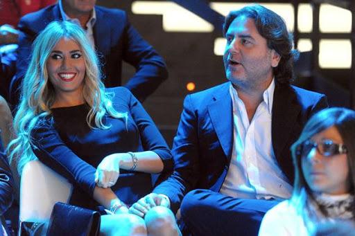 La Tozzi con Stefano Ricucci, ex di Anna Falchi