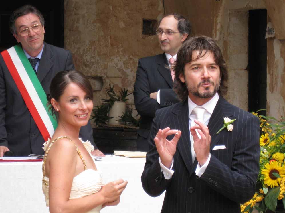 Ettore Bassi e Angelica Riboni nel giorno del loro matrimonio