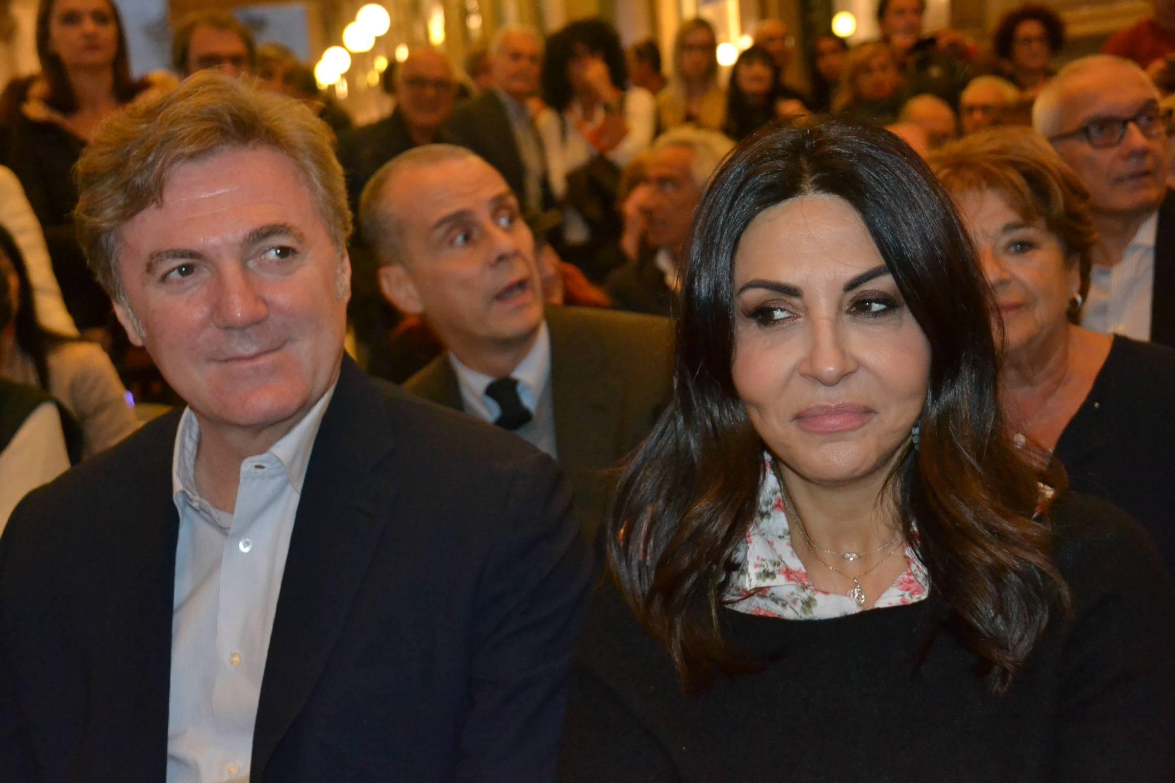 Sabrina Ferilli e il marito Flavio Cattaneo