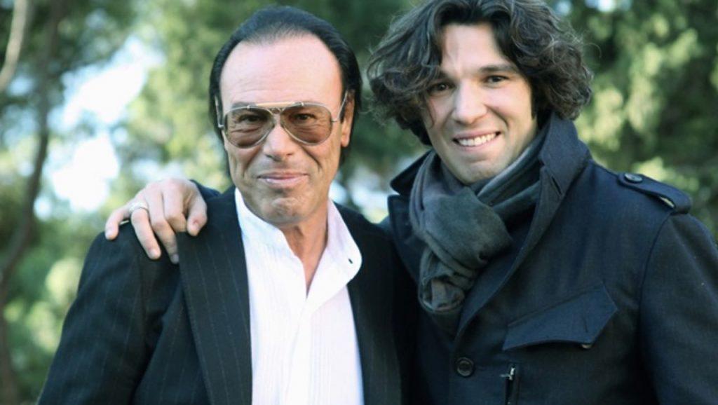 Francesco Venditti con suo padre Antonello
