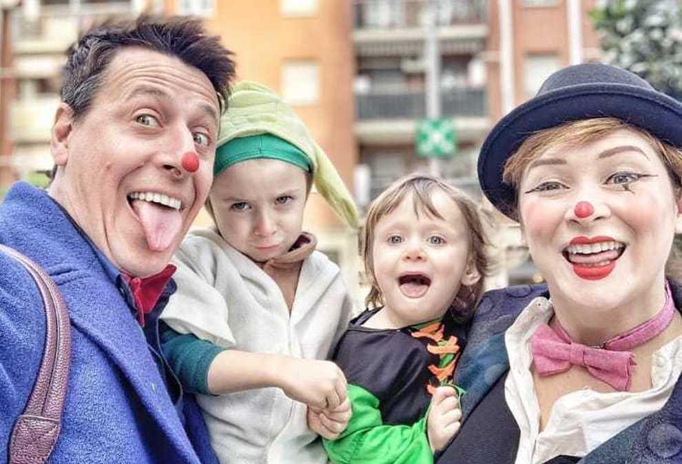 Gianmarco Pozzoli e la sua famiglia