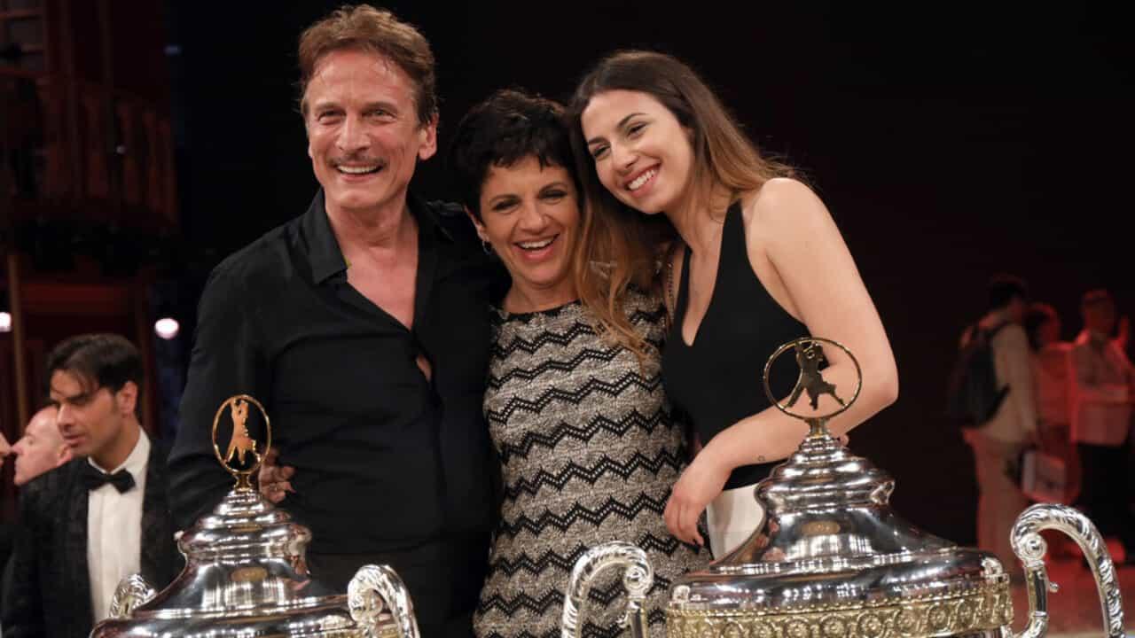 Cesare Bocci con la moglie Daniela Spada e la figli Mia Bocci