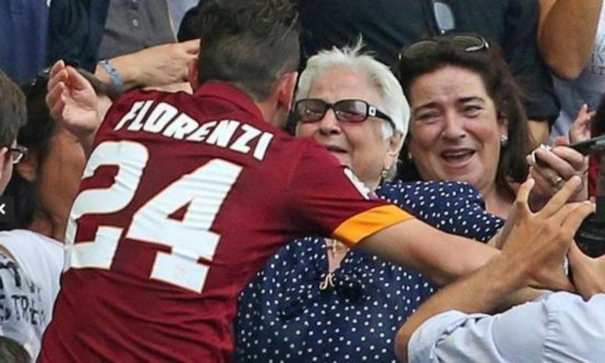 Florenzi abbraccia la nonna